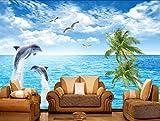 Wapel 3D Fototapete Surf Wellen Im Meer Meerblick Schlafzimmer Wohnzimmer Tv Hintergrund Wave Großes Fototapete Tapeten Fototapete 200Cmx 140Cm