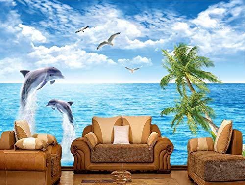 Wapel 3D Fototapete Surf Wellen Im Meer Meerblick Schlafzimmer Wohnzimmer Tv Hintergrund Wave Großes Fototapete Tapeten Fototapete 150Cmx105 Cm