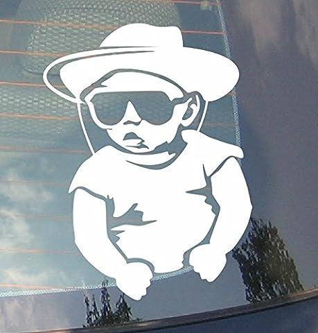 Baby On Board Cowboy Funky voiture Drift pare-chocs fenêtre Funny en vinyle Van pour ordinateur portable Love Heart Decor Home Live Kids Funny autocollant mural en stickers pour moto