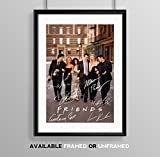 Memorabilia Fotografie/Poster der TV-Serie Friends, mit Autogramm von Courtney Cox, Matthew Perry, Jennifer Aniston usw, A4, Geschenk zum Geburtstag, Weihnachten, schwarz, POSTER ONLY