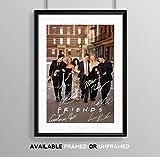 Memorabilia Fotografie/Poster der TV-Serie Friends, mit Autogramm von Courtney Cox, Matthew Perry, Jennifer Aniston usw, A4,Geschenk zum Geburtstag, Weihnachten, schwarz, POSTER ONLY