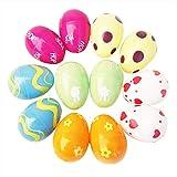 THEE Huevo de Pascua Festivo Colores Rellenos de Golosinas y Decoración de Fiesta 1.6x2.4inch