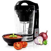Duronic BL78 Batidora de Vaso con Función para Sopas Máquina para Sopas y Cremas con Vaso de Cristal Termoresistente de 1,2 L Robot de Cocina Sopas, Cremas, Salsas, Batidos