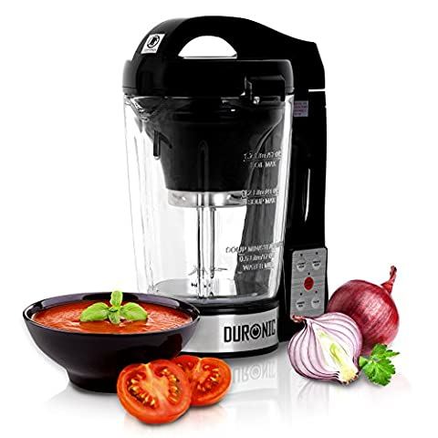 Duronic BL78 Blender chauffante en verre transparent - Créez des soupes par simple pression d'une touche !