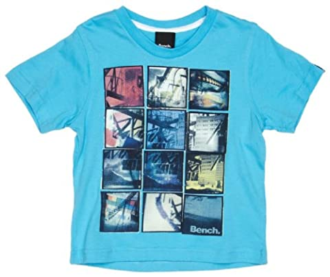 Bench Jungen Sport Pullover T-shirt Snap Shot türkis (aquarius) 140