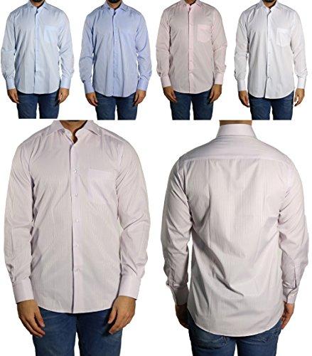Schattenstreifen Herren Hemd klassisch MUGA Weiß