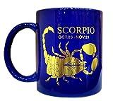 Art-N-Soul Beautiful Gold Printed Zodiac Scorpio Sign Ceramic Coffee Mug (350ml) - Blue