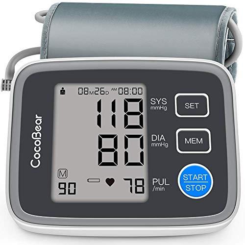 CocoBear Digitale Oberarm Blutdruckmessgerät mit Arrhythmie-Erkennung  2 * 90 Speicher Messungen FDA CE RoHS Genehmigt ()