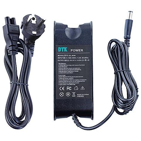 DTK Chargeur Adaptateur Secteur pour DELL: 19,5V 4,62A 90W Connecteurs: 7.4*5.5mm Alimentation pour ordinateur