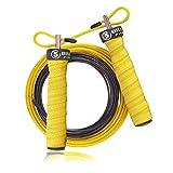 5BILLION Corda per Saltare - Cavo in Acciaio Regolabile Veloce con Cuscinetti a Sfera - Speed Rope Corda Salto Professionale per Fitness, Boxe, MMA, wod (Giallo)