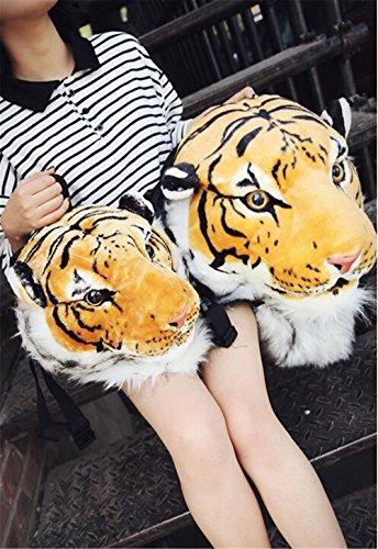 3d - simulation der tiger kopf rucksack, tasche für männer und frauen können mit dem rucksack freizeit rucksack, tasche (kleine -weiße) große-gelb