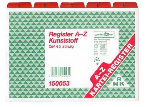 RNK-Vordruckverlag 150053 - Registerkarten A5 A-Z Plastik rot