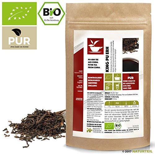 100 g King Pu Erh China Loser Tee Bio – Puerh – im aromadichten & wiederverschließbaren Beutel – Natürlich Tee by Naturteil