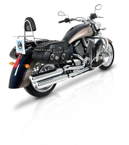 Preisvergleich Produktbild Ledertaschen Buffalo Custom 30 Liter mit Nieten für C-Bow Softtaschenhalter Hepco&Becker