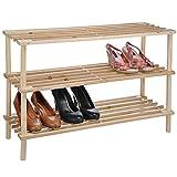 Schuhschrank Holz Schuhregal Schuhablage Schuhgarderobe Garderobe für bis 9 Paar
