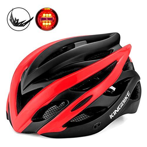 Yujingc Fahrradhelm mit abnehmbarem Visier BMX Gebirgsstraße Fahrrad MTB Helme Adjustable Radfahren Fahrradhelmen für Erwachsene Reitfahrrad Fully,Red,XL