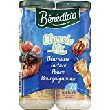Bénédicta - Assortment Of Sauces, Béarnaise, Tartare, Cocktail And Burgundy - Assortiment De Sauces, Béarnaise, Tartare, Cocktail Et Bourguignonne - 330G - Price Per Unit - Fast Delivery