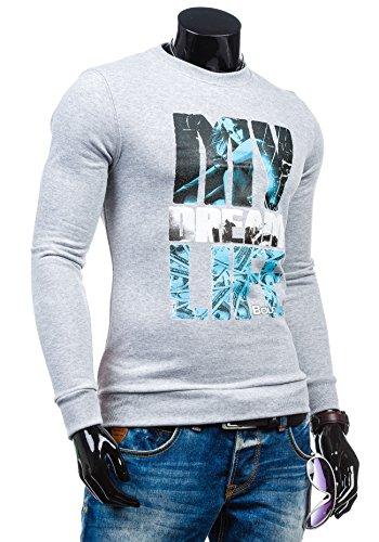 BOLF - Sweat-shirt - Maglione sportivo - con la stampa – BOLF 63S - Uomo Grigio