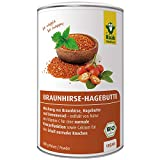 Raab Vitalfood Bio Braunhirse-Hagebutte Pulver-Mischung mit Brennnessel, Bio Braunhirse aus Österreich, Bio AP-4 Hagebutte, mit Kieselsäure, Calcium, Vitamin C, vegan, 600 g