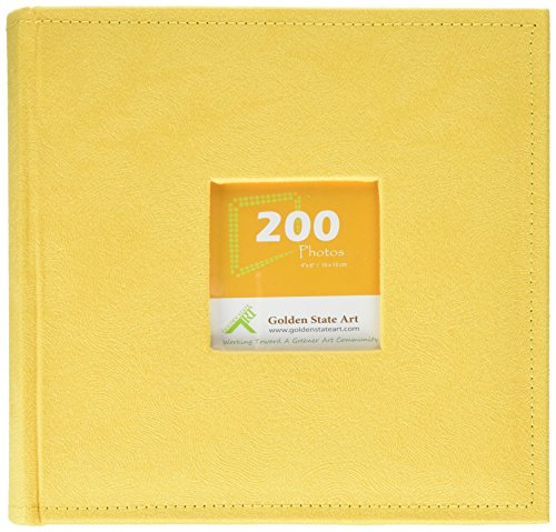 golden-state-art-photo-album-holds-200-4x6-pictures-2-per-page-suede-cover-cl55058-8-yellow