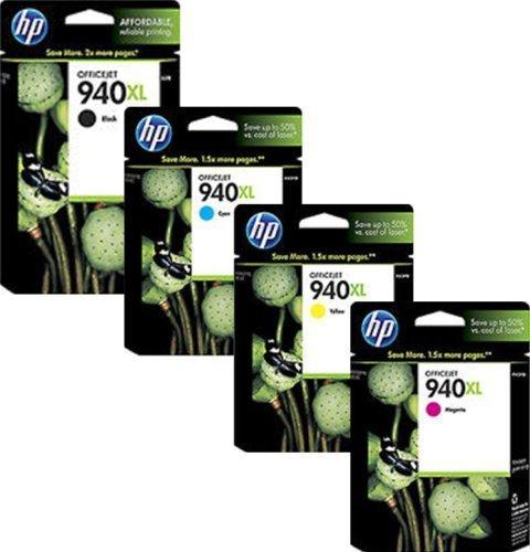 Preisvergleich Produktbild 4 x Original Druckerpatronen (Multipack) HP 940XL für Hewlett Packard Officej...