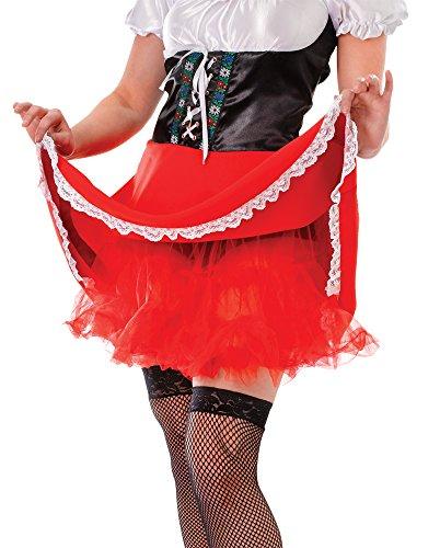 Dance Kostüm 1950's - Bristol Novelty AC567C Unterrock Kostüm, Rot