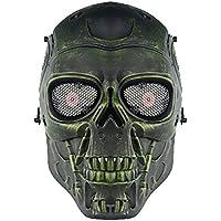 genenric - Máscara de Esqueleto para Airsoft, Juego de CS Paintball, táctica, Militar, Disfraz de Halloween, Color Verde