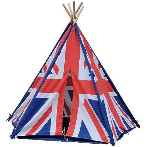 HAB & GUT (ZK004) TIPI - Tienda india para niños, con rayas, bandera inglesa color : azul, blanco,