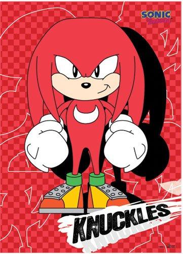 Sonic the Hedgehog - Knuckles Wallscroll 112 x 84 cm US Import Original & (Kostüm Aus Sonic Knuckles)
