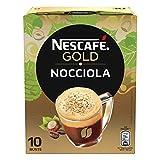 NESCAFÉ GOLD Nocciola Preparato Solubile per Caffè alla Nocciola Astuccio 10 Bustine, 80 g