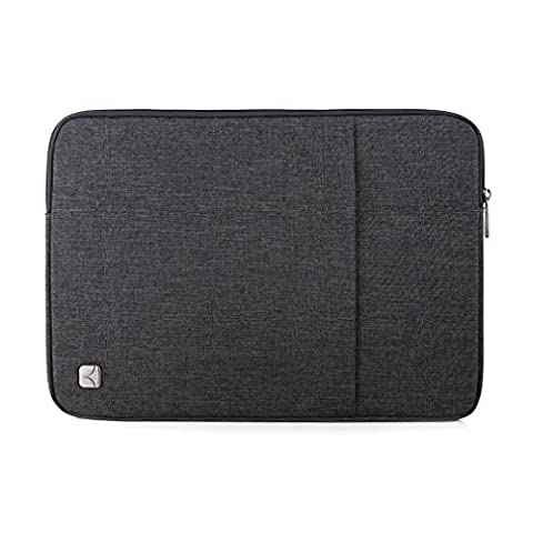 CAISON 14 inch Classic Comfort Laptop Sleeve Case Water-Resistant Protector Cover Bag Pouch For 14