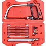 WiMas 13PCS set di seghe a mano, seghetti ad arco, multiuso set di sega a mano per strumenti di lavorazione del legno in plastica, vetro, piastrelle, metallo, ceramica