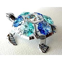 Idea Regalo - Nuova tartaruga cristallo Set Regalo Decorativo Crystocraft, con elementi Swarovski