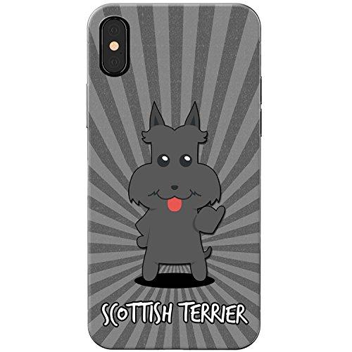 Scottish Terrier, Scottie, Aberdeen Terrier Hartschalenhülle Telefonhülle zum Aufstecken für Apple iPhone X (iPhone 10) -