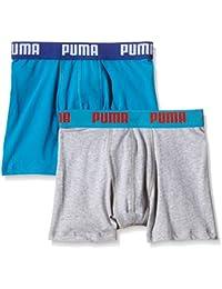 Puma–Calzoncillos para niño Basic 2P Varios colores azul Talla:extra-large