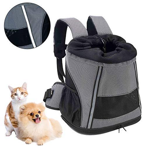 Mochila Perro Gato Pequeños Reflectante Resistente Pet Backpack Plegable Transportín Respirable para...