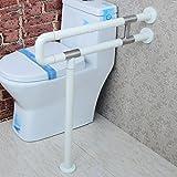 QFF Armlehne Nylon mit Beinen Barrierefreies Bad Toilette Badezimmer Becken Handlauf Alter Mann Behinderte Menschen Armlehne ( Farbe : Weiß , größe : 75cm )