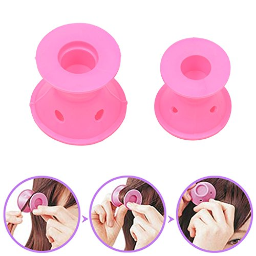 CkeyiN ® 20pcs Silicone No Clip Hair Curlers Rollers Hair Styling Tools (2 Set)