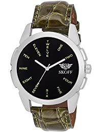 Skoff Analogue Black Dial Men's Watch - Es00051