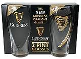 Guinness – Juego de 2 vasos con diseño de arpa