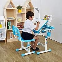 mecor Kids Study Desk,Children Desk Chair,Height Adjustable Childrens Desk Chair Set