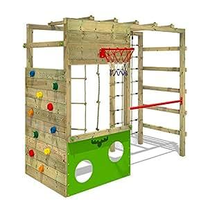 Fatmoose di area giochi cleverclimber Club XXL portico di gioco in legno Torre di arrampicata