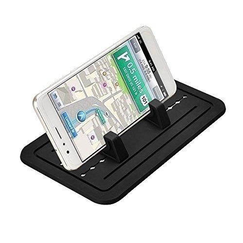 aceyoon Handyhalterung Auto Silikonmatte Armaturenbrett Antirutschmatte Handy Halterung Silikon Universal KFZ Smartphone Ständer Kompatible mit Huawei Schwarz MEHRWEG