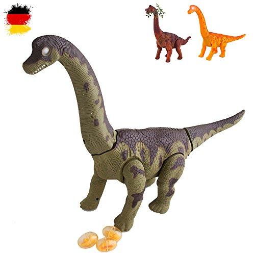 HSP Himoto Elektronischer Brachiosaurus Dinosaurier für Kinder, Dino-Tiere, mit Sound und Gehfunktion, Ei-legfunktion, Modellbau, Neu, OVP