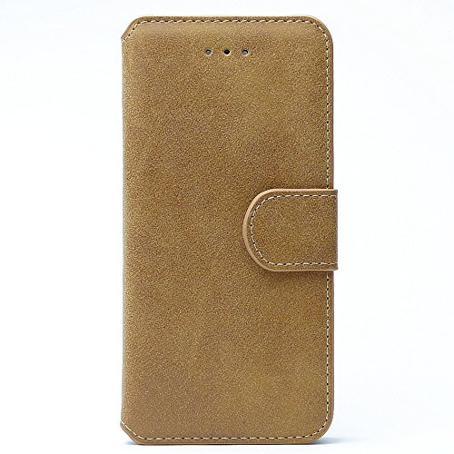 Apple iPhone 6s Hülle Vintage Bookstyle Flip Case mit Kartenfach Hell Braun Hell Braun