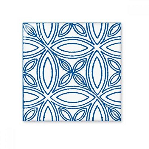 DIYthinker Blau Talavera Ilustration Dekorative Muster glatt Fliesen Badezimmer Küchen-Wand-Stein Dekoration Fertigkeit-Geschenk -