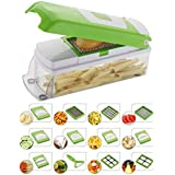 EVEN 11 Blades Vegetable and Fruit Chipser Chopper and Slicer (Green)