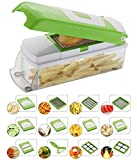 #1: EVEN 11 Blades Vegetable and Fruit Chipser Chopper and Slicer (Green)