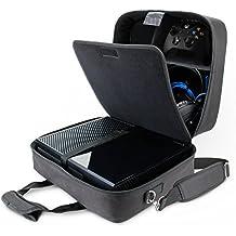 USA GEAR Housse Sac de Console de Jeux avec Sangle d' Epaule Ajustable Et Compartiments Personnalisables Pour Xbox One , PlayStation 4 , Nintendo Wii U