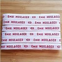 MELI MELOW Lot Etiquettes tissées prénom nom à coudre - tissu personnalisé vintage - ruban nominatif - marque marquage…